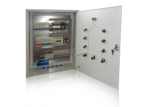 Шкаф управления приточно-вытяжной вентиляцией, с водяным нагревателем, водяным охладителем, рекуператором и циркуляционной камерой. На контроллер Pixel.