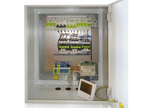 Щит управления приточной вентиляцией с электрическим нагревателем.