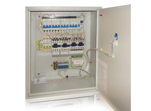 Щит управления приточно-вытяжной вентиляцией с ТЭНом15 кВт 2 ступени на контроллере М2 CITYRON с панелью управления